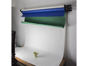 Wall-Mounted Multiple Backdrop Paper Roll Pulldown Rack