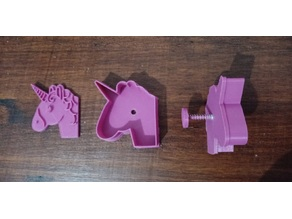 Unicorn Cookie Cutter with Spring