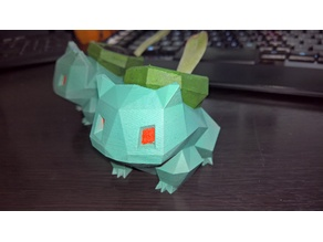 Low Poly Bulbasaur Planter, Deep