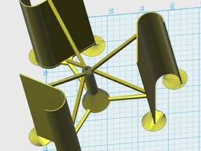 Simple Vertical Windmill (VAWT)