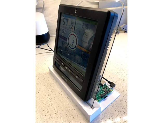 Acurite 5-in-1 weather station + raspberry pi stand holder
