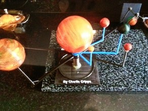 "Solar system & stand ""nephews home work"" Planetarium Model"