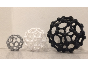 Buckyball, two pieces, pinned