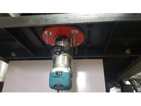Router mounting (Makita RT0700C) insert for Martlet Tablesaw