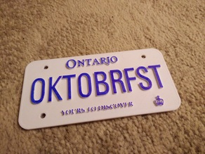 Customizable Canadian License Plate (All Provinces and Territories)
