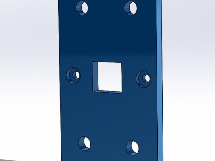 USB Back Plate for MendelMax 1.5+