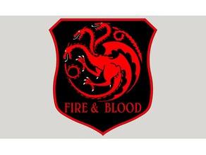 Targaryen sigil - Game of thrones banner