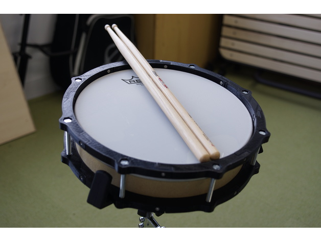 10 inch e-drum pad with small 3d printer