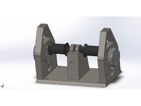 Dual stepper motor winch