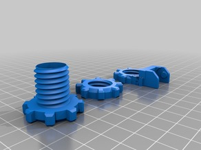 xyzPrinting Da Vinci 1.0 Pro Cable Chain Rear Mount