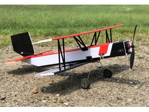 Bi-Toob RC Plane Printed Parts + Build Description