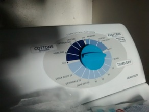 Dryer knob