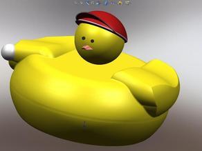 Hard Plastic Rubber Ducky