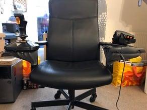 Thrustmaster 16000M HOTAS Ikea Chair mod