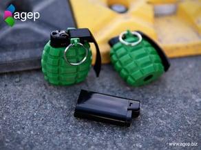 Lighter Case - Hand Grenade Shaped