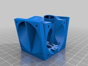 Mini Kossel j-head mount with 40mm PEEK fan and dual 40mm layer fans