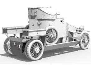 Lanchester Armored car 1/100 scale