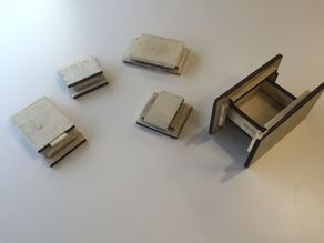 """Bruce Viney's """"The Matchbox"""" Puzzlebox for Laser Cutters"""