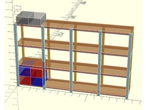 Garage Shelving for Totes - Parameterized