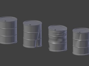 Battered Oil Barrels