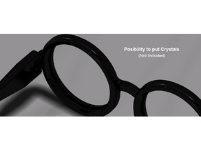 Harry Potter Glasses with possibility to put crystal inside