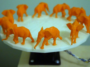 Walking Elephant 3D Zoetrope