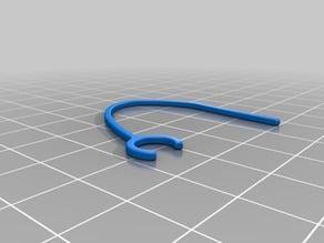 Earbud holder 8.5mm diameter clip