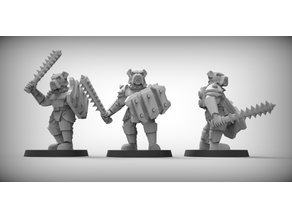 BULLDOGS - GUARD DOGS x3 28mm (RESIN)