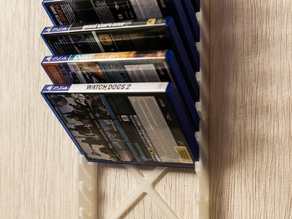 Modular Wall Rack for Sony PlayStation 4 Disc Cases