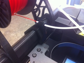 Filament guide for side of MakerBot (5th Gen)