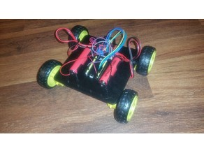 BugBot robot rc frame for cheap yellow geared dc motors and wheels