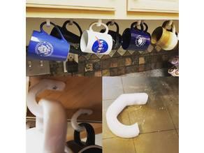 Under Cabinet Coffee Cup Hook Hangers