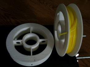 Customizable filament/wire spool or wheel creator