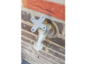 Garden water tap knob key