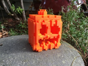 Minecraft Pumpkin and Jack-o-lantern, reduced support version