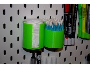 IKEA SKADIS - Containers for cotton pads and cotton sticks