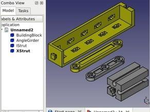 Parametric Fischertechnik Parts for FreeCAD