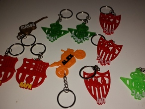 Keychain Football Spanish Team's