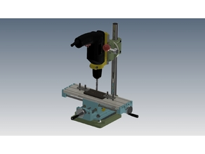 Coordinate table from China on the shaft, Milling
