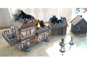 Modular Castle, Town, House, Tower, Church,  Gates, Cathedral