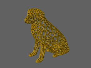 Labrador Sculpture Pattern (Voronoi Style)