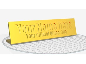 Customizable Desk Name Plate