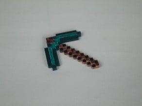 8-bit Minecraft fridge magnet