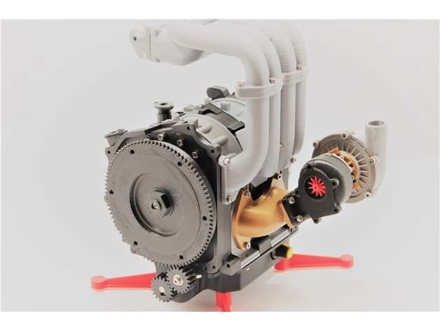 mazda rx7 wankel rotary engine 13b rew working model by rh thingiverse com