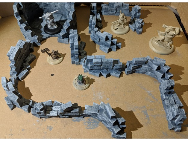 Fantasy Wargame Terrain - Ruined Wall Sections by