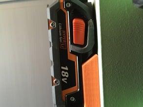 Ridgid 18v battery mount