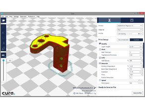 3D Touch Mount for Hypercube