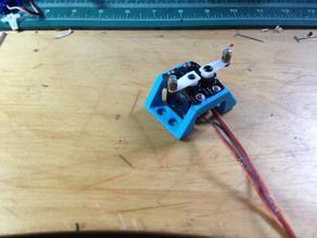 2 micro servo mount block