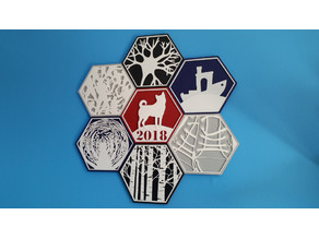 Glueless Hexagon Mural Assembly