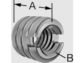 Slotted-Drive Male-Female Round Thread Adapter